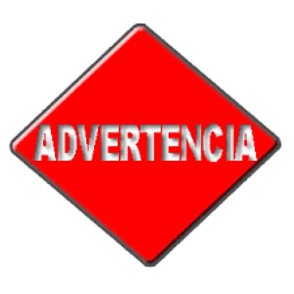 Advertencia - Equipe Fechado D12