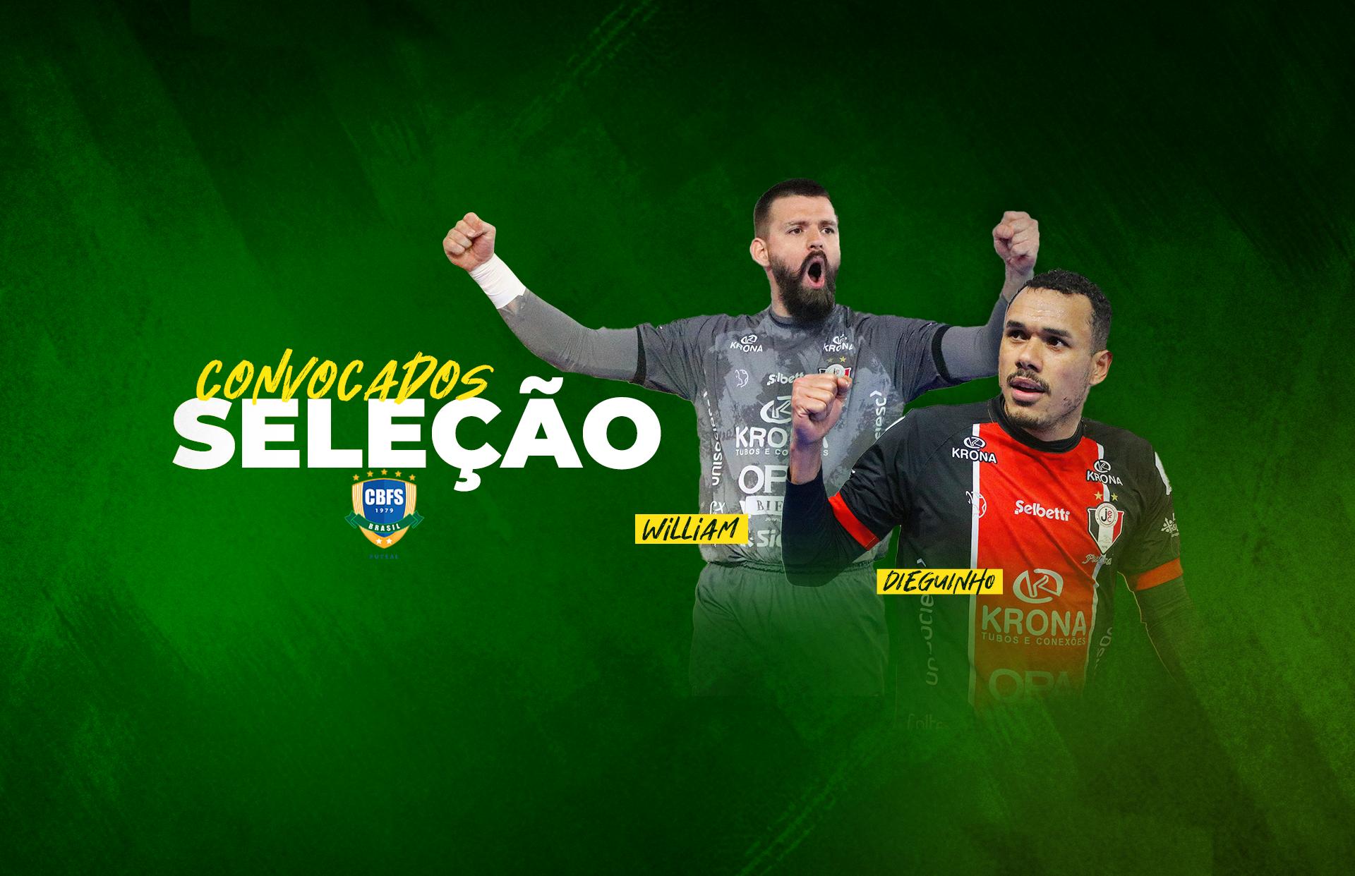 Catarinenses são convocados para defender o Brasil na Copa do Mundo de Futsal